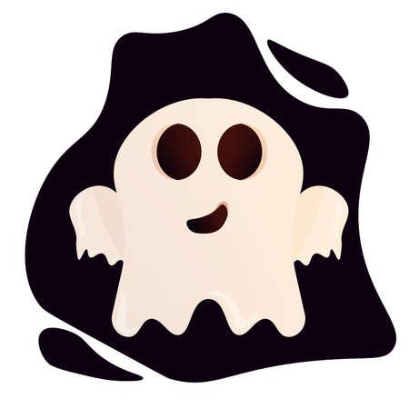 Halloween ghost cartoon Ilustração