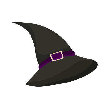 Isolated witch hat