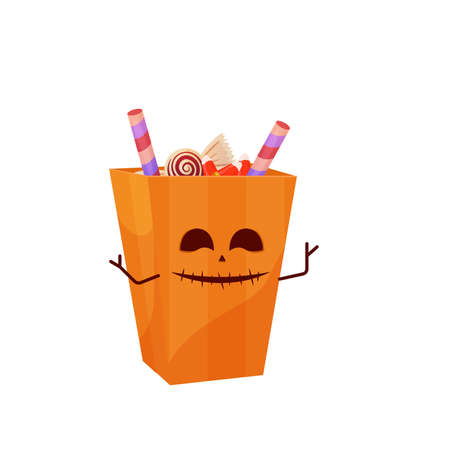 Halloween bag with candies