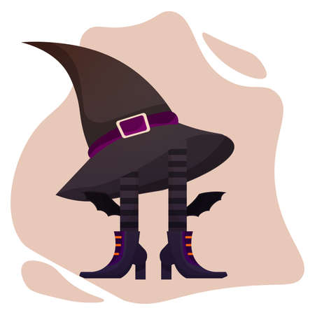 Witch legs and hat