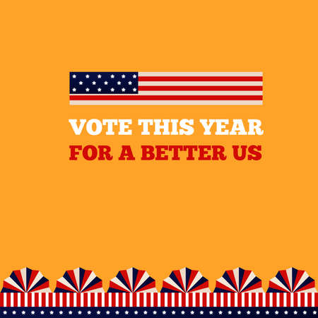 USA elections day vote design