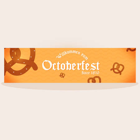 Isolated octoberfest pretzels banner