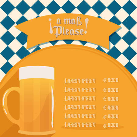 Menu beer octoberfest design 向量圖像