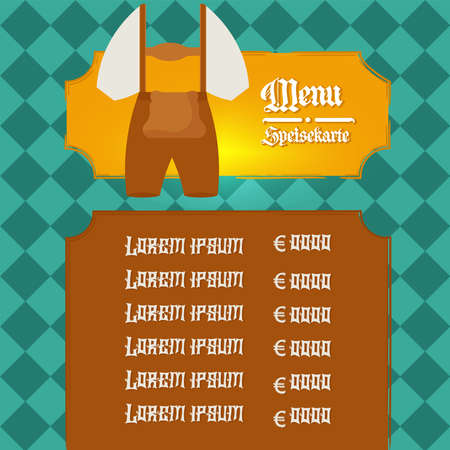 Menu restaurant octoberfest design