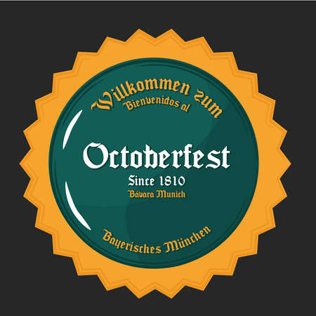 octoberfest green badge design