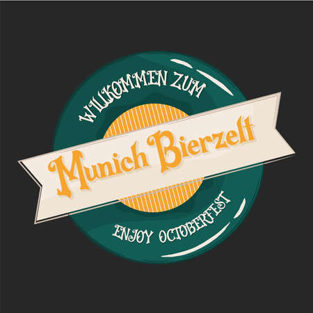 Munich Bierzelf green badge  design