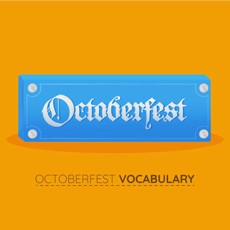 Octoberfest blue vocabulary design