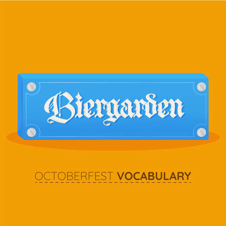 Biergarden blue vocabulary design