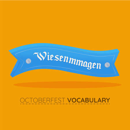 Wiesnmmagen blue vocabulary design
