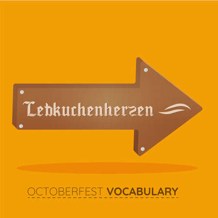 Octoberfest brown vocabulary design 向量圖像