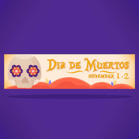 Day of deaths white banner