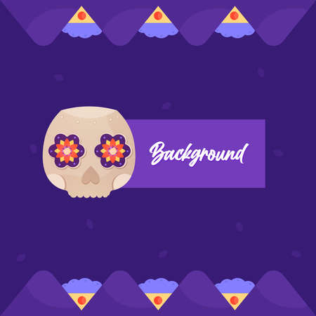 Day of deaths background purple