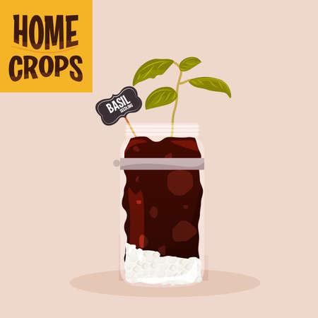 Home crop corn in germinate food health icon- Vector
