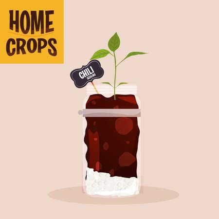 Home crop onions germinate food health icon- Vector