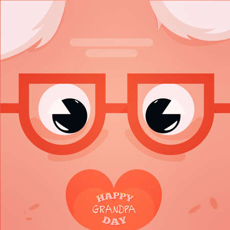 grandfather glasses sweet granparents day image icon- Vector 向量圖像