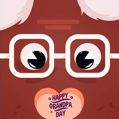 grandfather glasses sweet black granparents day image icon- Vector
