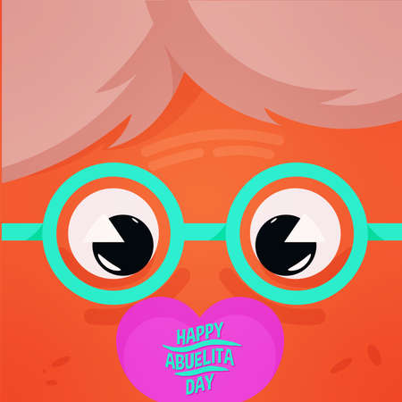 grandmother glasses sweet asian granparents day image icon- Vector