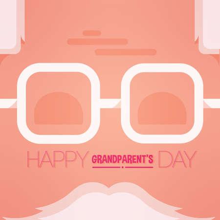 Happy sweet granparents day image icon- Vector
