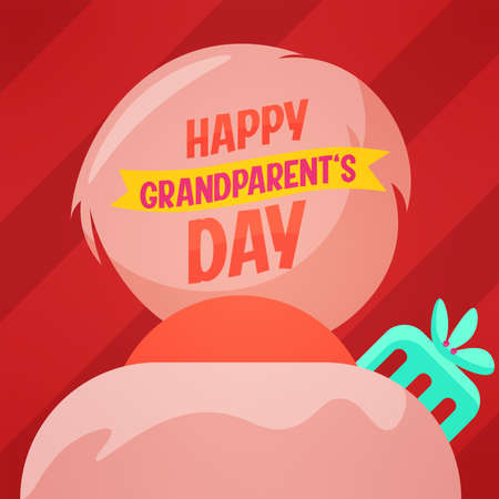 Older man sweet granparents day image icon- Vector