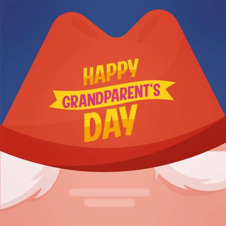 Hat happy grandparents day granparents day image icon- Vector