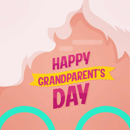 glasses Happy sweet granparents day image icon- Vector