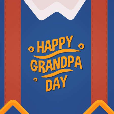 Happy grandpa day granparents day image icon- Vector 向量圖像