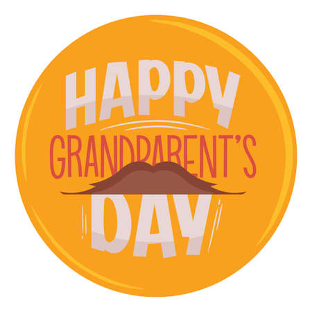 Happy grandparents day hat granparents day image icon- Vector