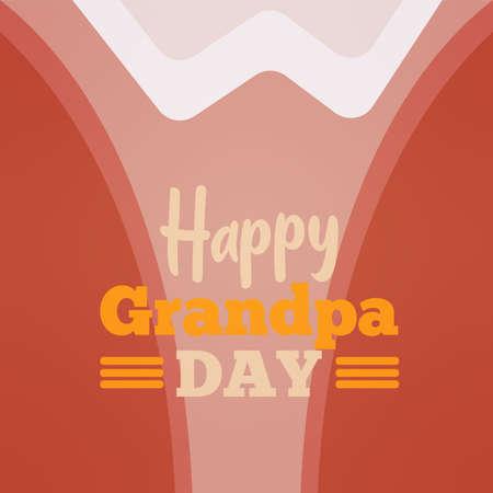 Shirt Grandpa day granparents day image icon- Vector 向量圖像