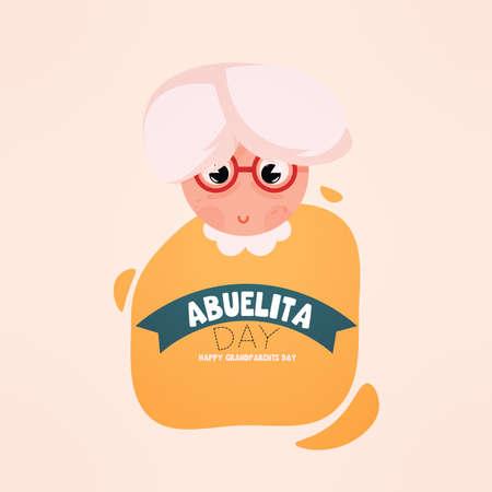 Abuelita granparents day sweet image icon- Vector 向量圖像