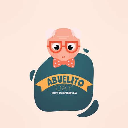 Abuelito granparents day sweet image icon- Vector