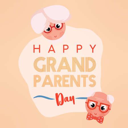 Happy granparents day sweet image icon- Vector