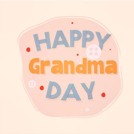 Happy grandma day granparents day image icon- Vector
