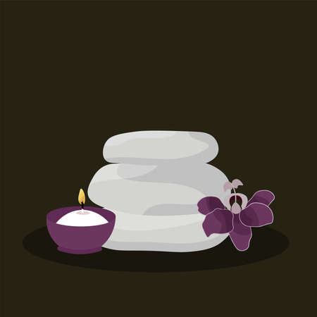 Soaps articles spa in dark background relax icon- Vector Vetores