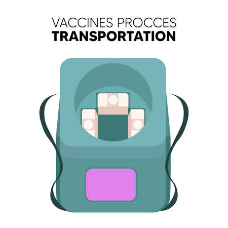 Isolated Post vaccine prevent refirigerator vaccines medicine health icon- Vector