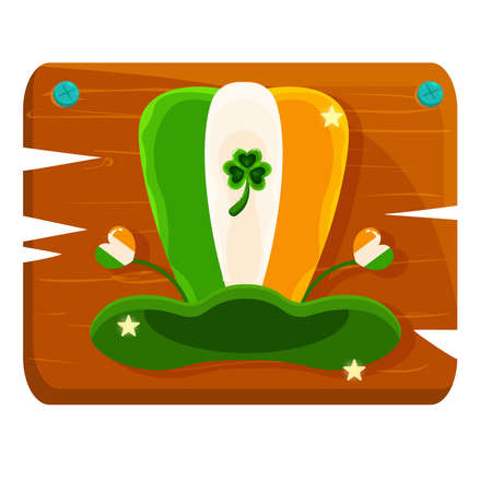 Isolated ireland hat wood saitn patricks day ireland icon- Vector