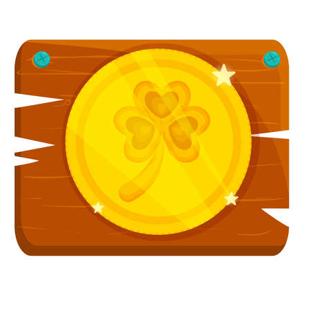 Isolated token wood saitn patricks day ireland icon- Vector Stock Illustratie