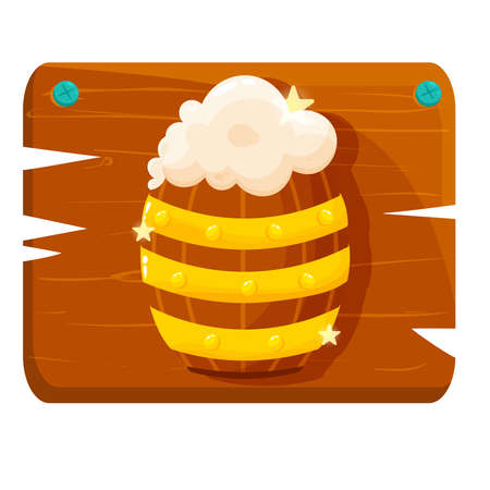 Isolated Beer wood saitn patricks day ireland icon- Vector