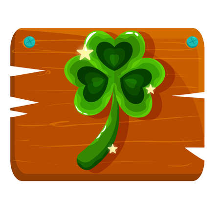 Isolated clover wood saitn patricks day ireland icon- Vector