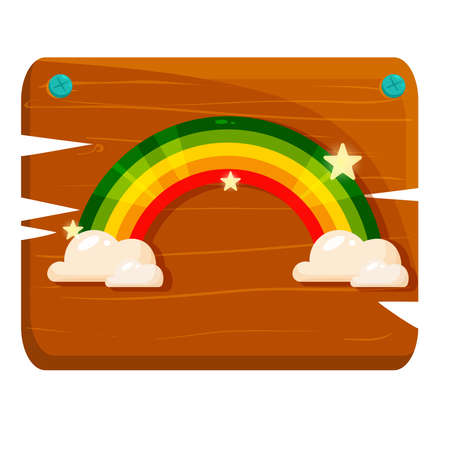 Isolated Rainbow wood saint patricks day ireland icon- Vector Stock Illustratie