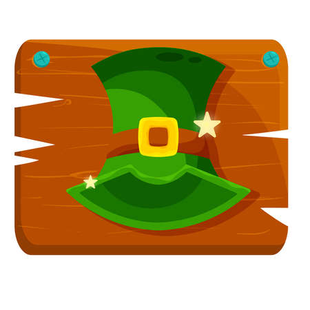 Isolated hat green wood saint patricks day ireland icon- Vector