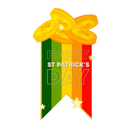 Isolated tokens ireland wood saint patricks day ireland icon- Vector Stock Illustratie