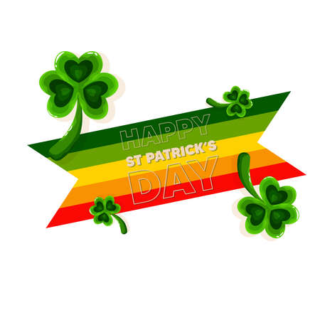 Isolated clover rainbow wood saint patricks day ireland icon- Vector