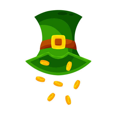 Isolated hat tokens wood saint patricks day ireland icon- Vector
