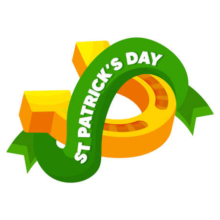 Isolated horseshoe wood saint patricks day ireland icon- Vector