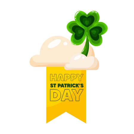 Isolated clover wood saint patricks day ireland icon- Vector Stock Illustratie