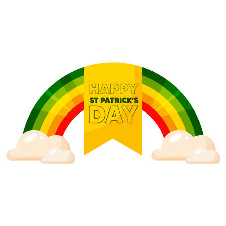 Isolated rainbow wood saint patricks day ireland icon- Vector