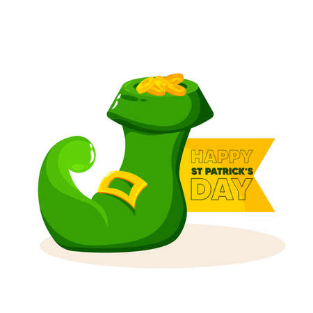 Isolated green hat wood saint patricks day ireland icon- Vector Stock Illustratie