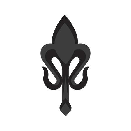 Isolated fleur de lis small black elegant emblem icon - Vector Stock Illustratie