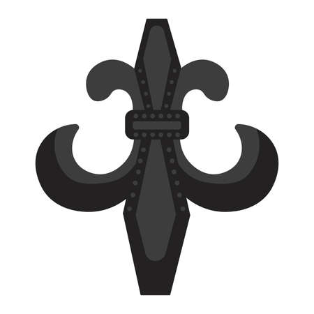 Isolated fleur de lis black elegant emblem icon - Vector