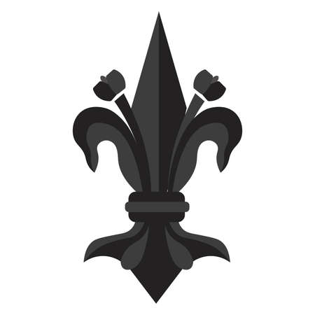 Isolated fleur de lis royal black elegant emblem icon - Vector